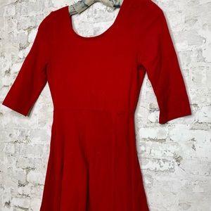 EXPRESS Little Red Flare Dress
